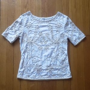 Vintage embroidered short sleeve